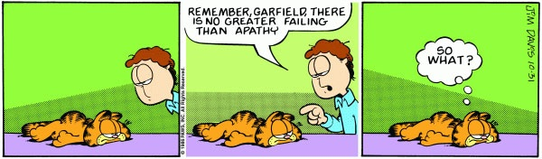 Garfield on apathy