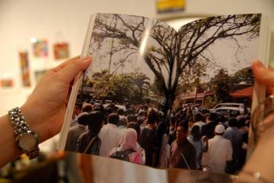 "A photo of the Pokok Demokrasi in the ""Perak: A State of Crisis"" book"