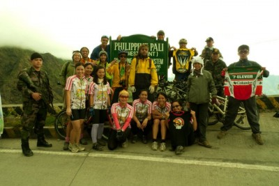 At the top of the highest peak of the Philippines where the ride ended.