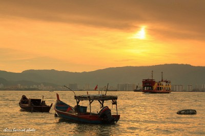 Sunset over Penang island | Credit: http://www.flickr.com/photos/harriotc