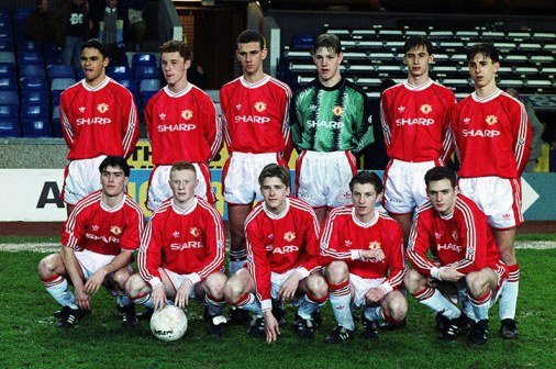 Gary and the 1992 FA Youth Cup winning team | Source: Action Images