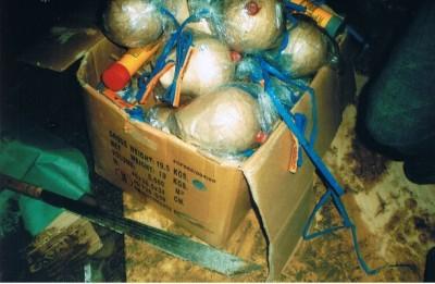 Explosives Found   Credit: BRIMAS