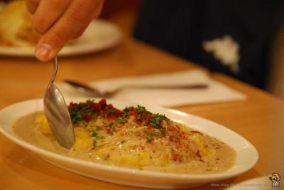 Sumptuous mashed potatoes. | Credit: King Chai