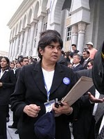 Ambiga Sreevanesan, Chairperson for Bersih 2.0 was denied entry into Sarawak (Source: http://bit.ly/dVi9l9)