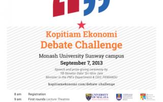 Kopitiam Ekonomi Debate Challenge