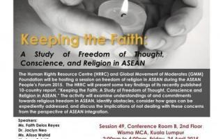 ACSC/APF 2015: Keeping the Faith, 24 April 2015