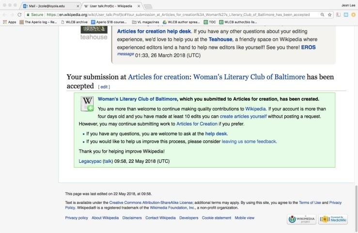 Wikipedia acceptance