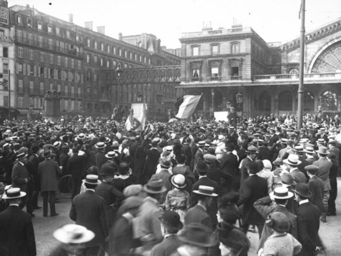 Mobilisation 1914 - Gare de l'Est