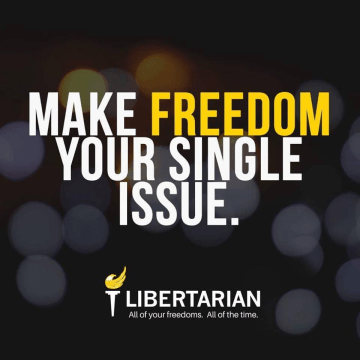 Make freedom your single issue.