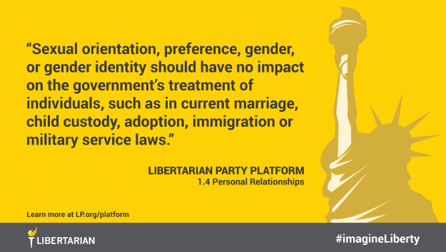 Sexual orientation, preference, gender, or gender identity should have no impact on the government's treatment of individuals, such as in current marriage, child custody, adoption, immigration or military service laws.