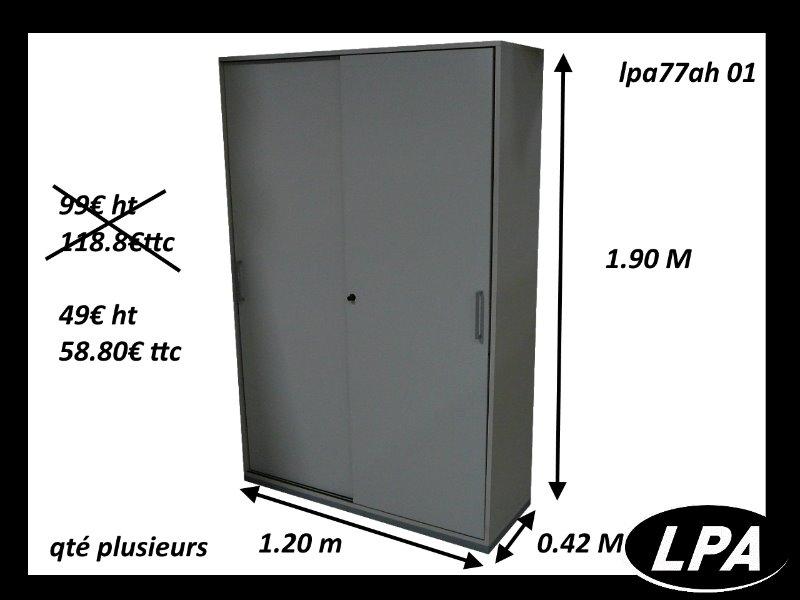armoire metallique porte coulissante