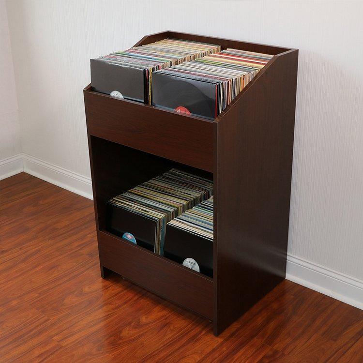 LPBIN LP Storage Cabinet  Java Cherry