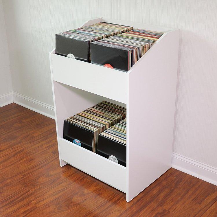 LPBIN LP Storage Cabinet  Natural White