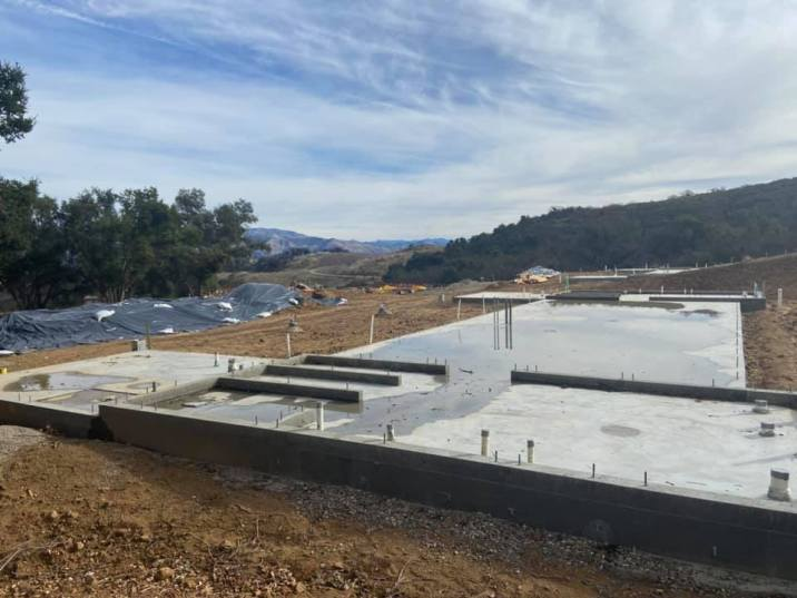 New concrete foundation