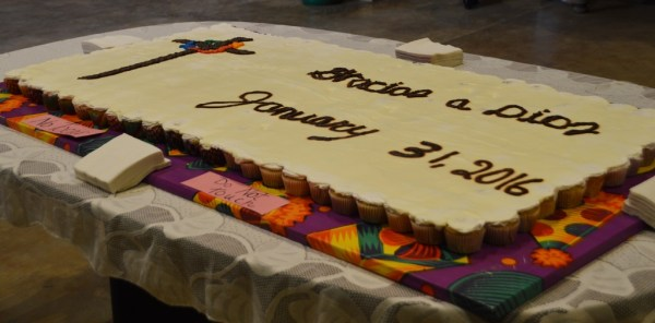 This enormous cake was made of more than 250 cupcakes! It was beautiful--and tasty,