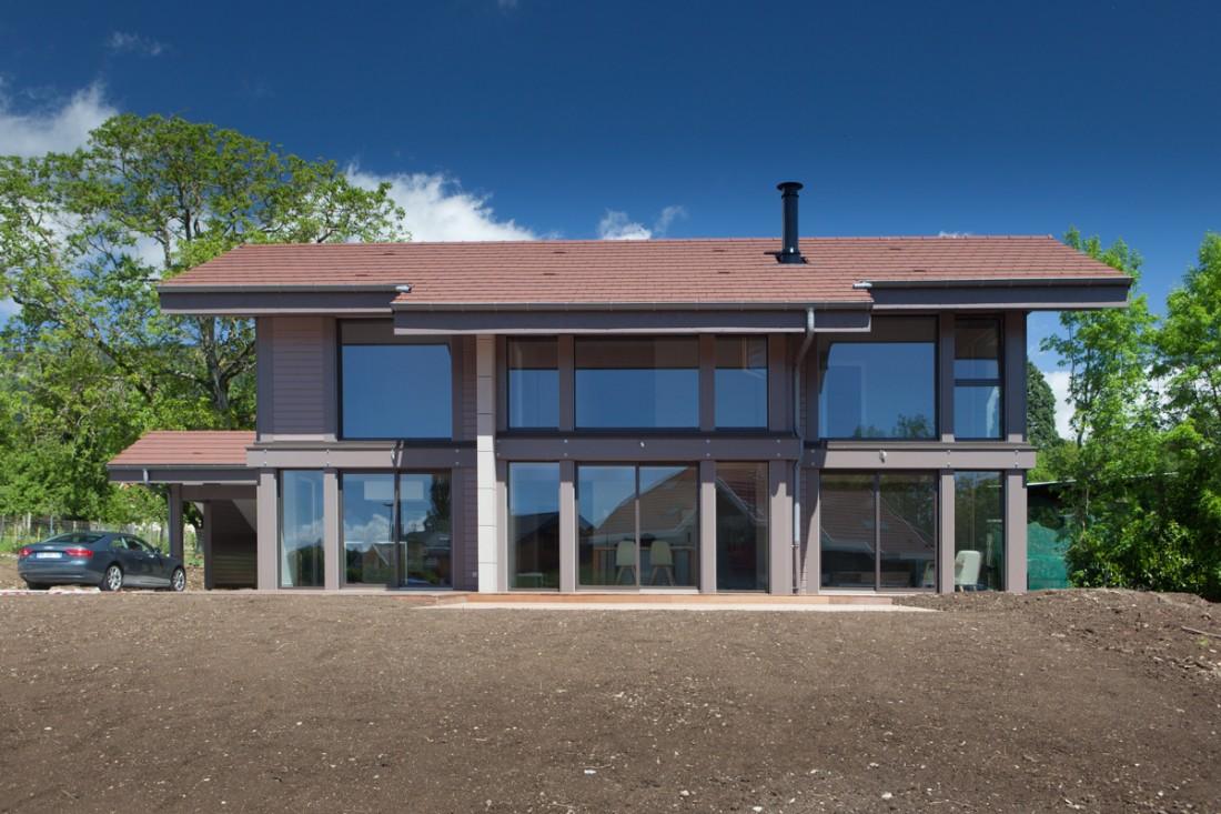 Constructeur maison bois haut de gamme - Maison ossature bois haut de gamme ...