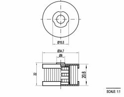 Filtr LPG kapalné fáze do reduktoru LI10 Landi Renzo
