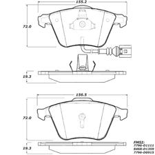 Porterfield AP 1111 R-4 Carbon Kevlar Racing Brake Pad