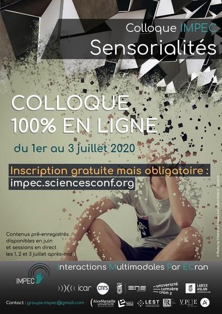 Colloque IMPEC 2020 : Sensorialités