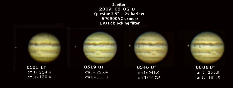 Loudon Observatory Questar 2009 Jupiter Images