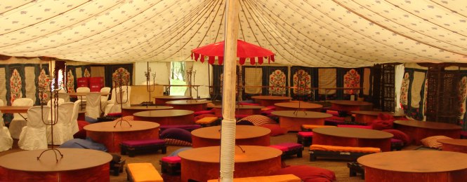 Indian Wedding Mandap At A North London Marquee