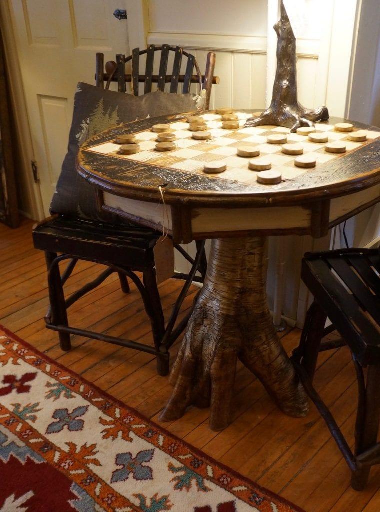 Adirondack Rustic Game Table - L.Post Rustics Adirondack Furniture
