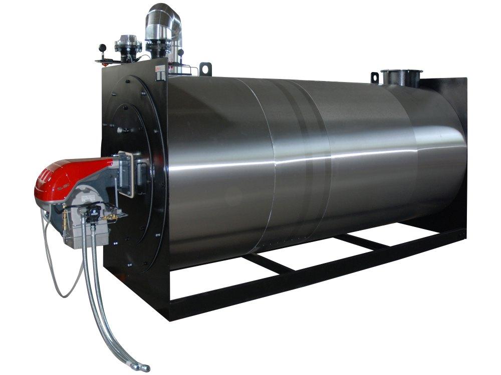 Riscaldatore olio diatermico orizzontale con bruciatore a gasolio