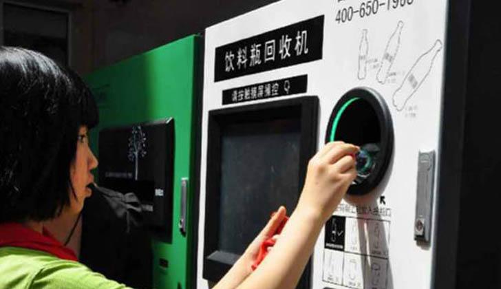 reciclar botellas tiquetes transporte publico china