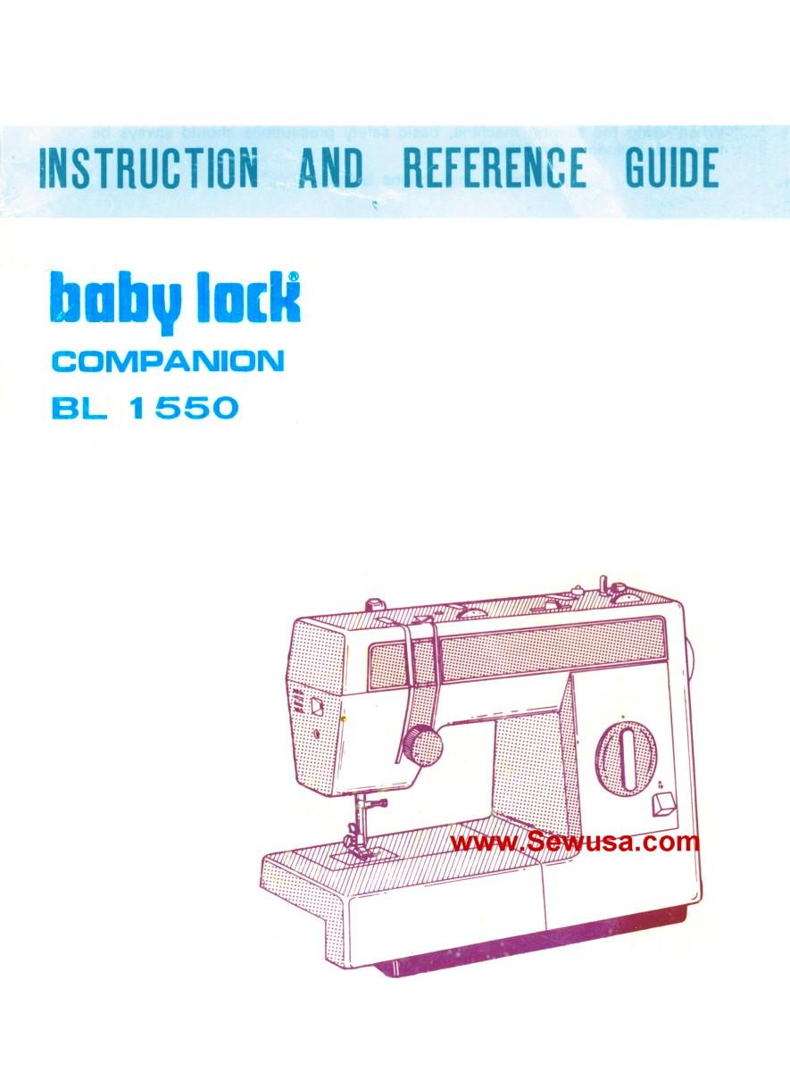 Babylock Model BL 1550 Instruction Manual PDF | LRBservices.net