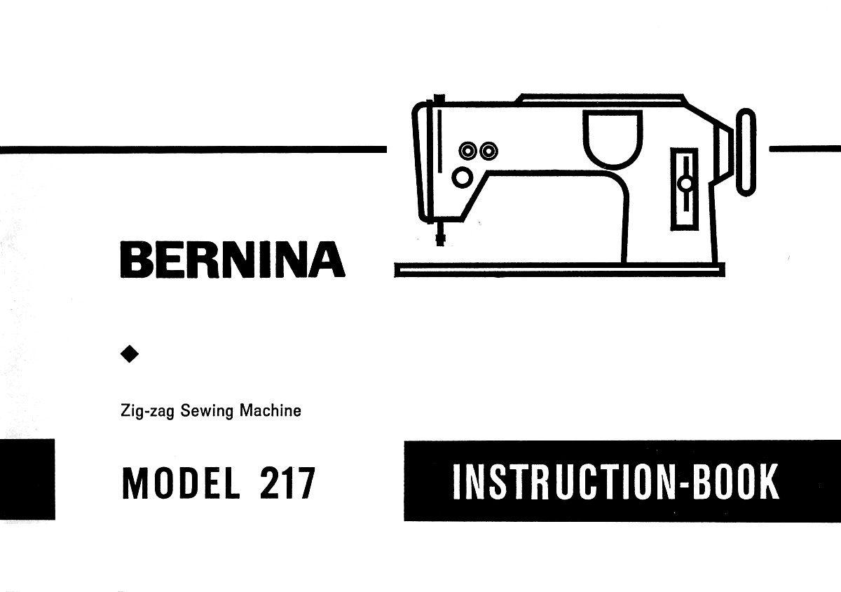 Bernina 2000 D 2000 DE Instruction Manual PDF