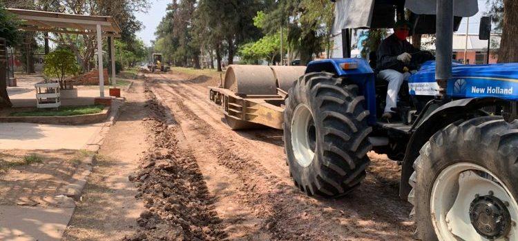 El Municipio realiza un operativo de enripiado el barrio Mariano Moreno