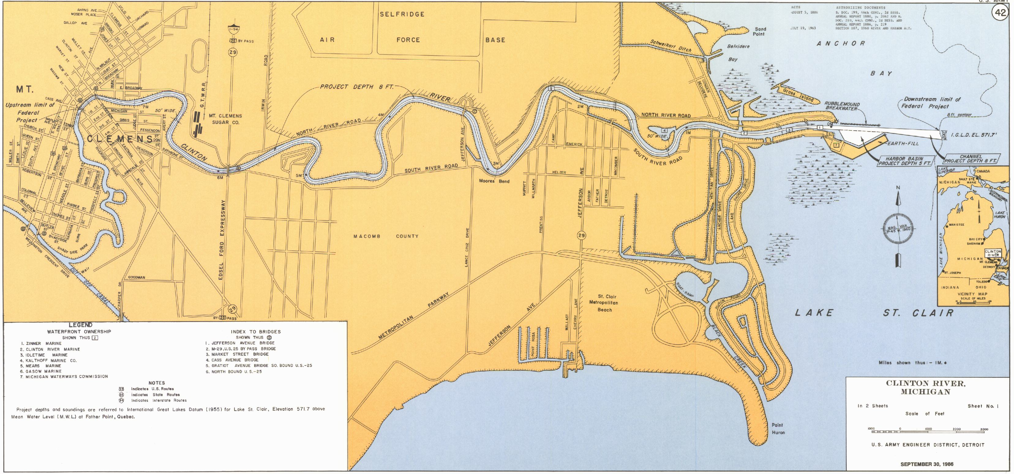 Detroit District Gt Missions Gt Operations Gt Clinton River Mi