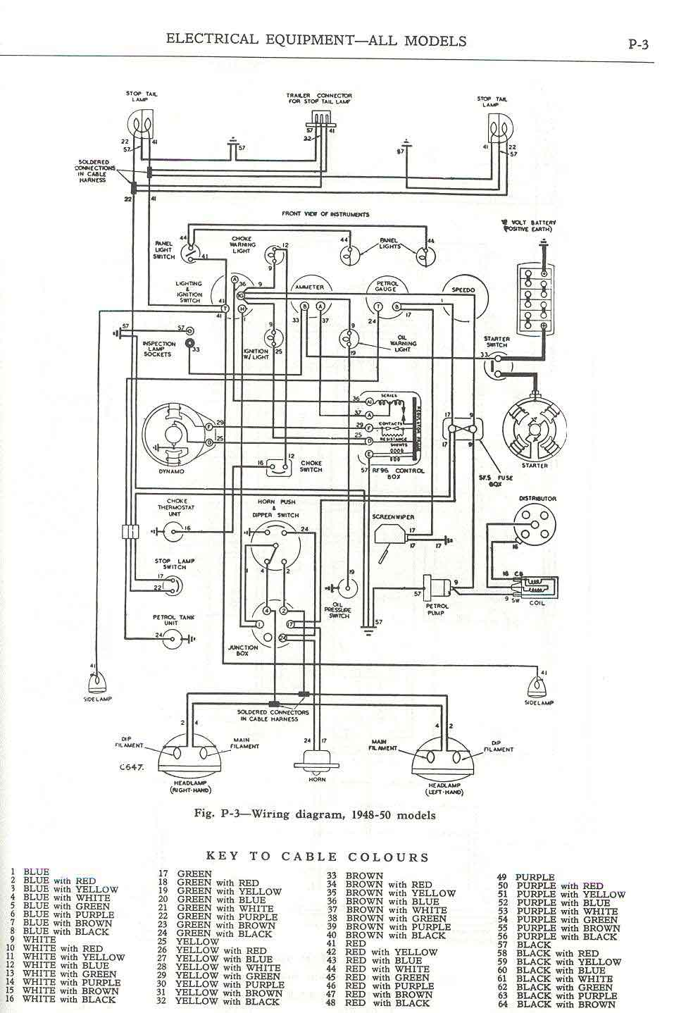 medium resolution of  wiring diagram 1948 50