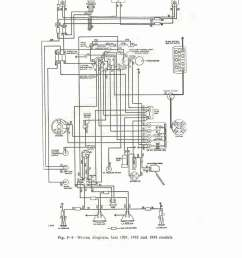 wiring diagram late 1951 and 1952 1953 models  [ 1007 x 1469 Pixel ]