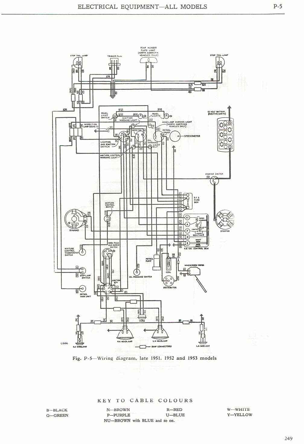 hight resolution of  wiring diagram late 1951 and 1952 1953 models