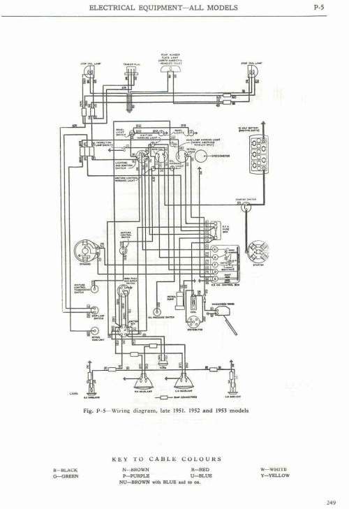 small resolution of  wiring diagram late 1951 and 1952 1953 models