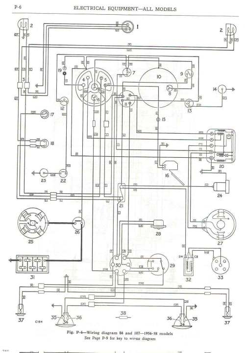 small resolution of  wiring diagram 86 and 107 1956 58 models