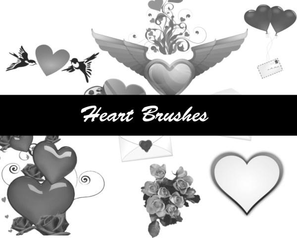 Heart Brushes 10