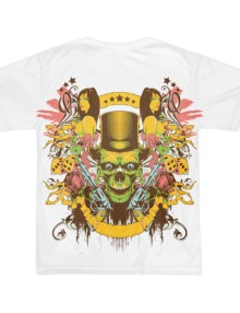 Skull Gunslinger - Short sleeve men's t-shirt (unisex)