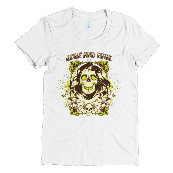 Love and Hate - Women's short sleeve t-shirt 3