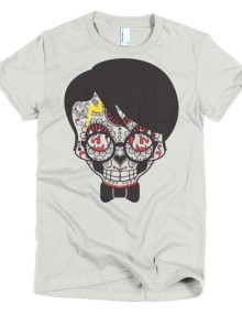 Skull Girl - Short sleeve women's t-shirt