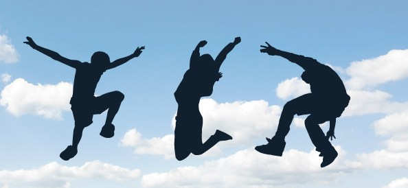 Jumping People Silhouettes 2
