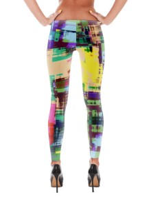 Abstract Leggings