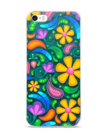 Trendy Colorful Flowers Floral Pattern - iPhone case 2