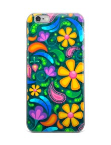 Trendy Colorful Flowers Floral Pattern - iPhone case 1