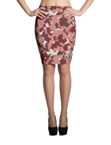 Red Camo Pencil Skirt 1