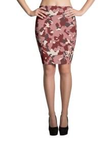Red Camo Pencil Skirt 1