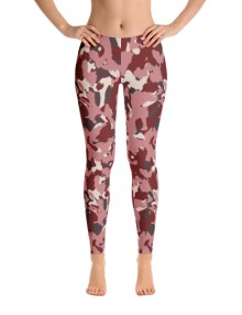 Red Camo Leggings 2