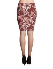 Red Camo Pencil Skirt