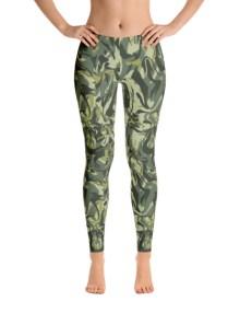 Green Camo Swirl Leggings 2
